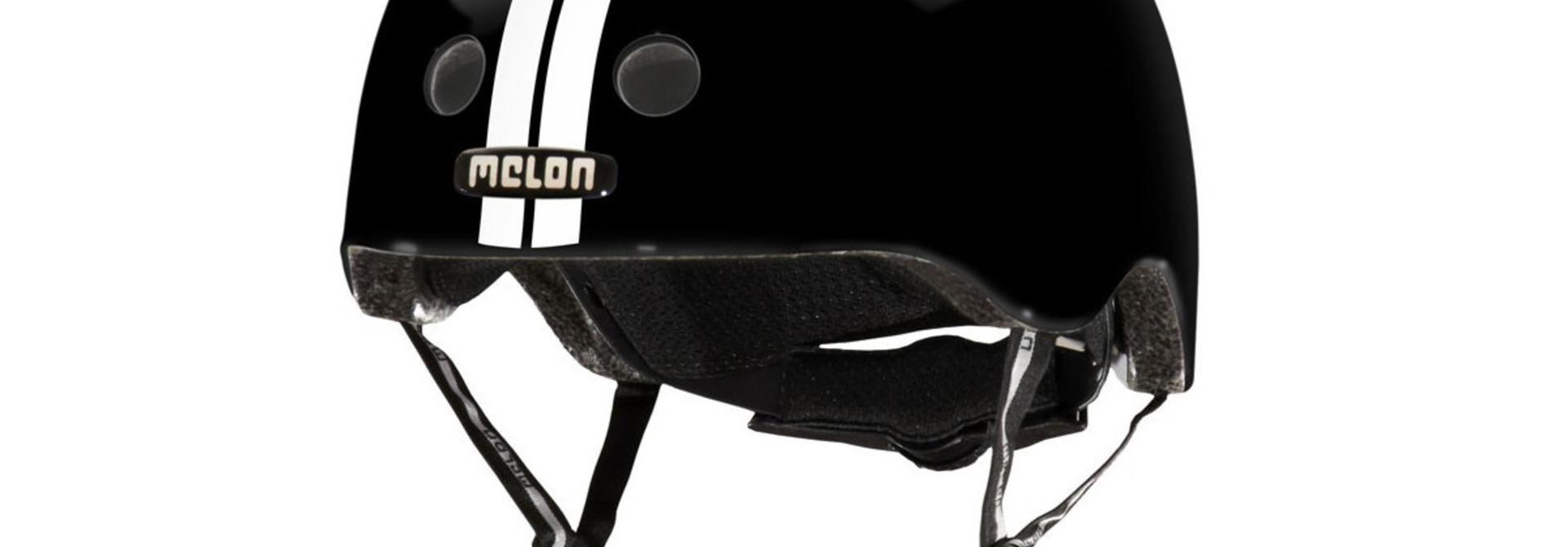 MELON STRAIGHT WHITE BLACK HELMET