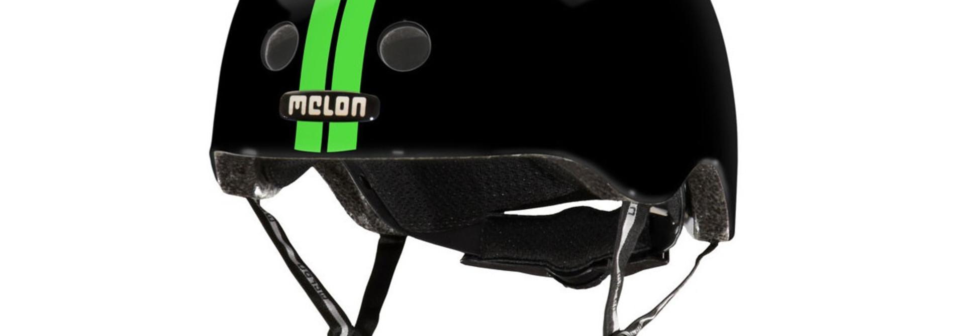 MELON STRAIGHT GREEN BLACK HELMET