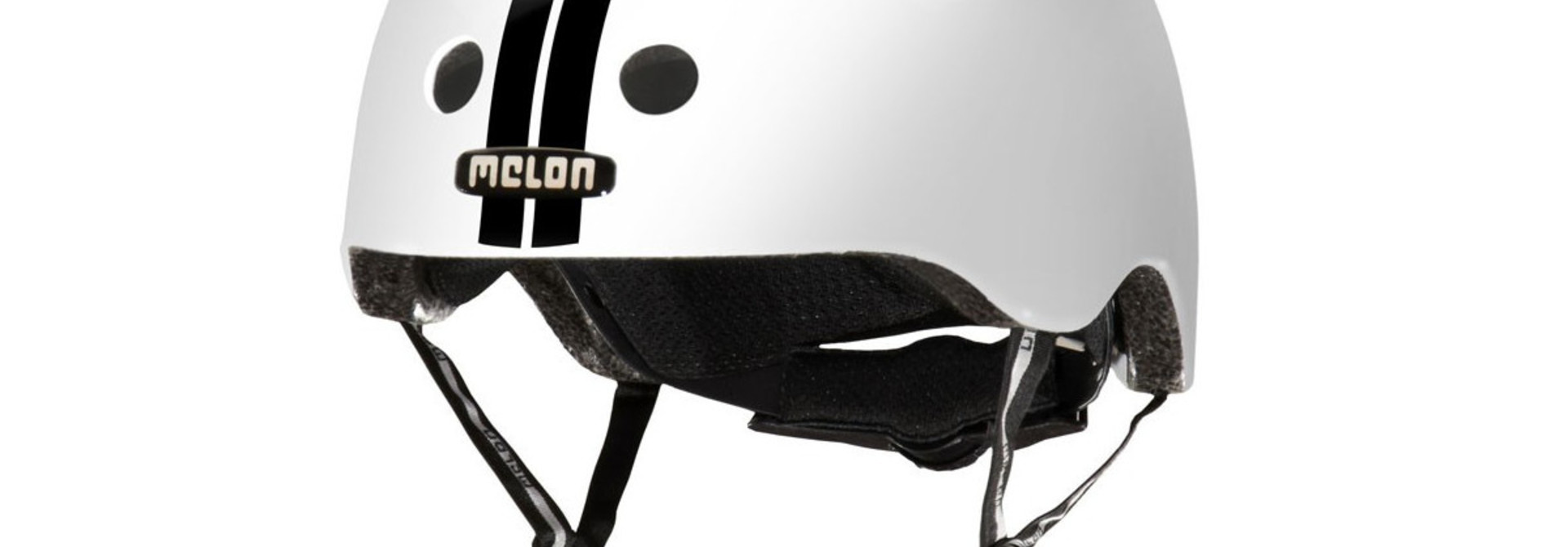 MELON STRAIGHT BLACK WHITE HELMET