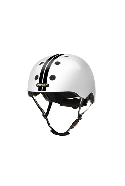 STRAIGHT BLACK WHITE HELMET