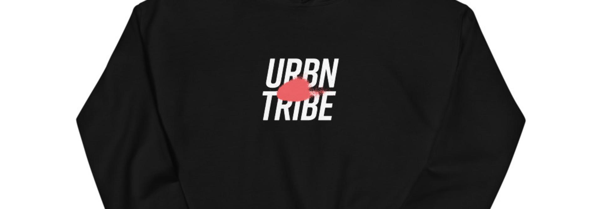 URBN TRIBE HOODIE UNISEX BLACK