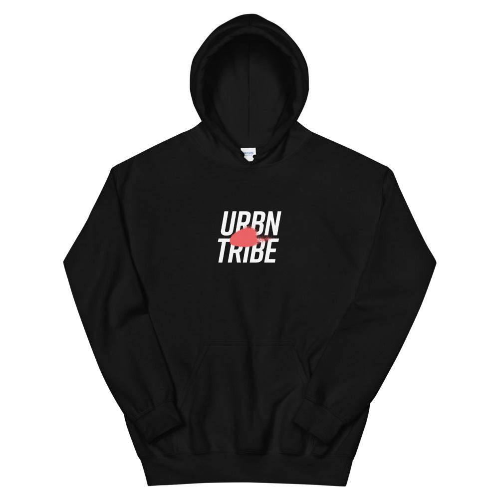 URBN TRIBE HOODIE UNISEX BLACK-1