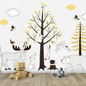 Muurstickers Kinderkamer Goedkoop.Muurstickers Babykamer Forest Design Productie In Nl