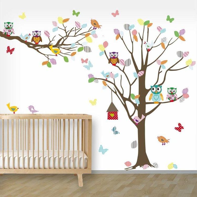 Daring Walls Muursticker Boom + tak Happy bruin
