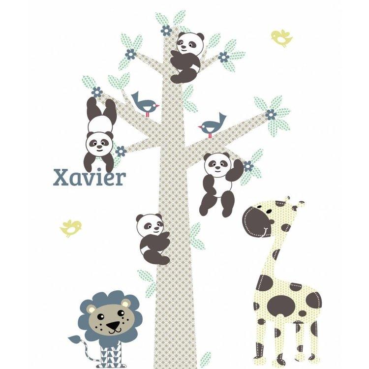 Daring Walls Muursticker Boom Panda's blue - Copy