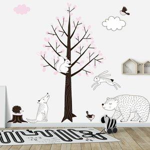 Daring Walls Muursticker Boom Forest pink
