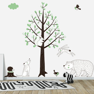 Daring Walls Muursticker Boom Forest green