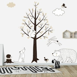 Daring Walls Muursticker Boom Forest taupe