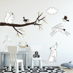 Daring Walls Wall Sticker Branch Forest taupe