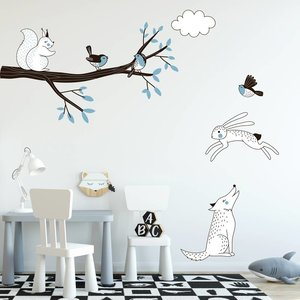Daring Walls Muursticker Tak Forest blue