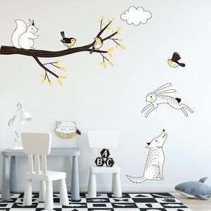 Daring Walls Muursticker Tak Forest yellow