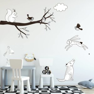 Daring Walls Muursticker Tak Forest grey