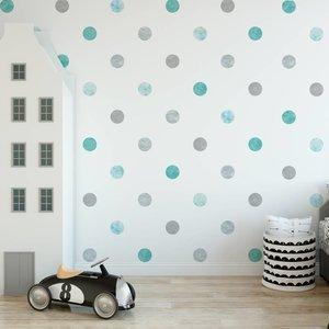 Daring Walls Muursticker Watercolor Confetti Dots mint