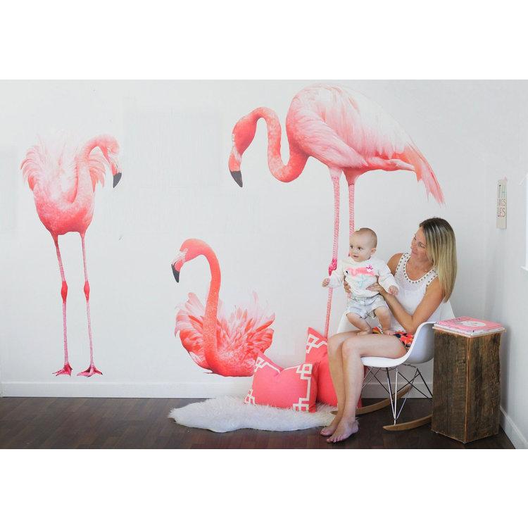 Daring Walls Muursticker 3 flamingo's