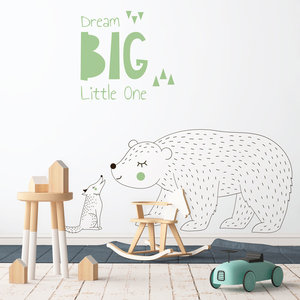 Daring Walls Muursticker Dream Big - Green