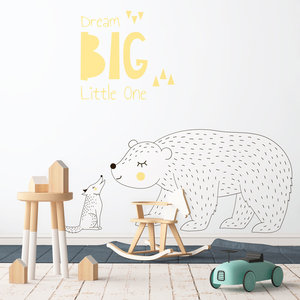 Daring Walls Muursticker Dream Big - Yellow