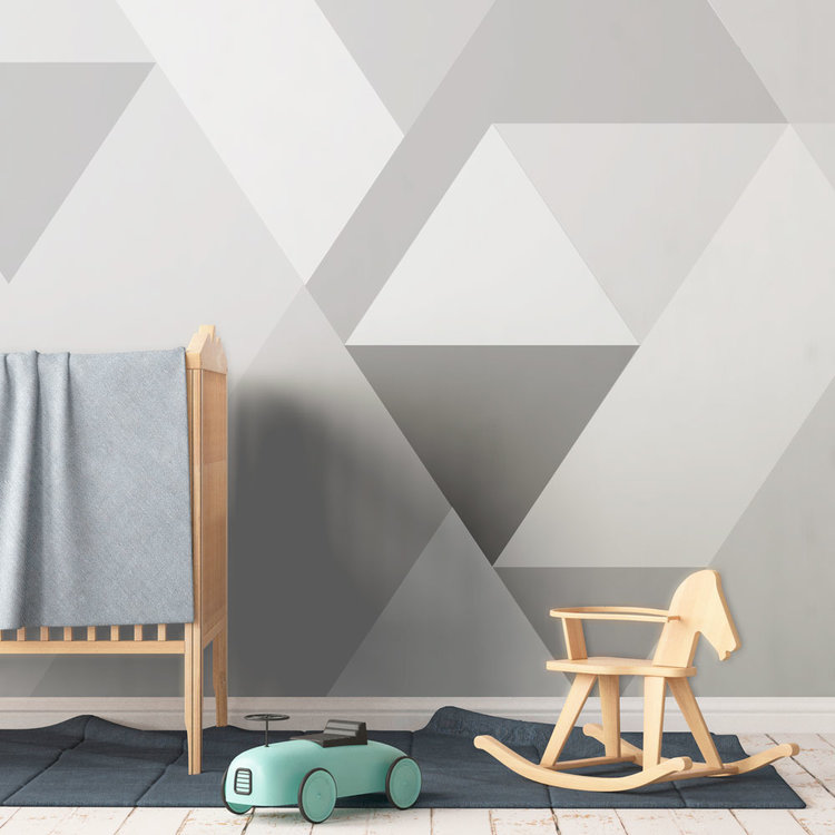 Daring Walls Behang Bergen abstract grey