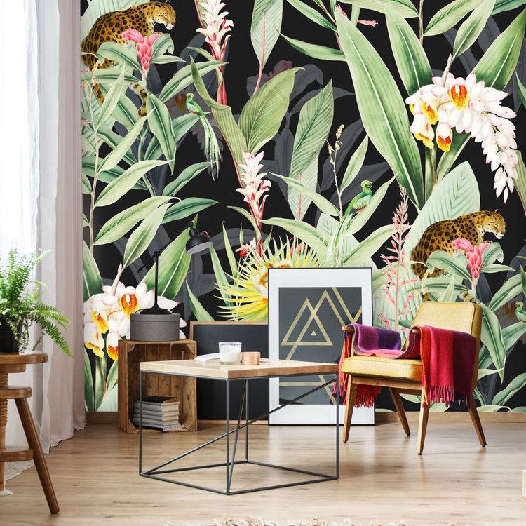 Daring Walls Behang Tropical Chic black