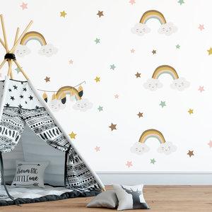 Daring Walls Wall Sticker Rainbows & Stars - Rust
