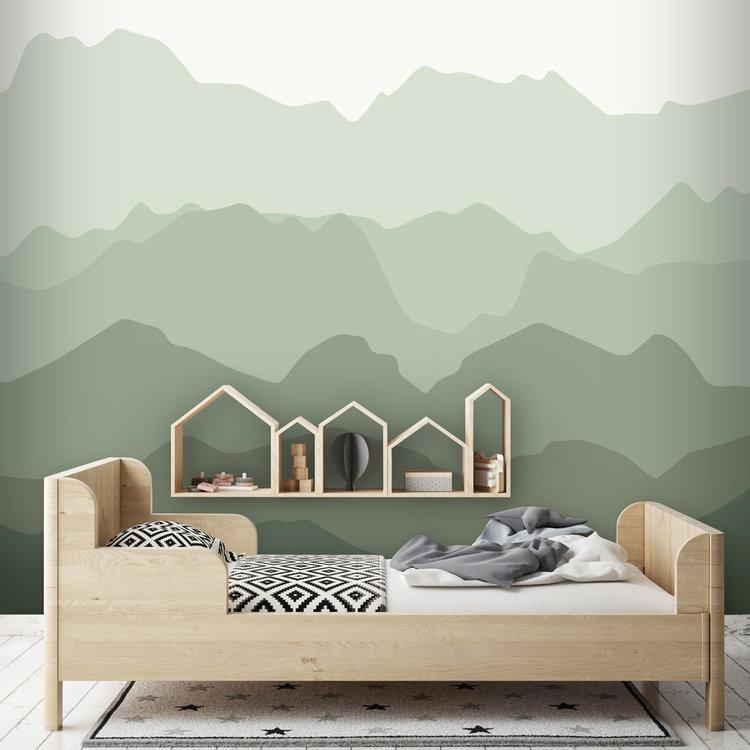 Daring Walls Behang Quiet mountains forest