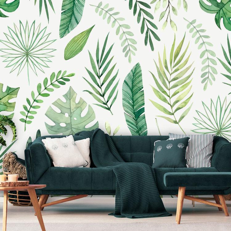 Daring Walls Behang Green leaves
