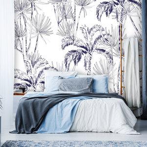 Daring Walls Behang Palms in blue