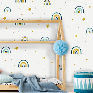 Daring Walls Wall Stickers Rainbows with love - green / blue