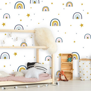 Daring Walls Wall Stickers Rainbows with love - pink