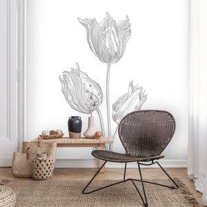 Daring Walls Muursticker Floral Line Art - 1