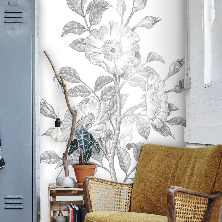 Daring Walls Muursticker Floral Line Art - 2