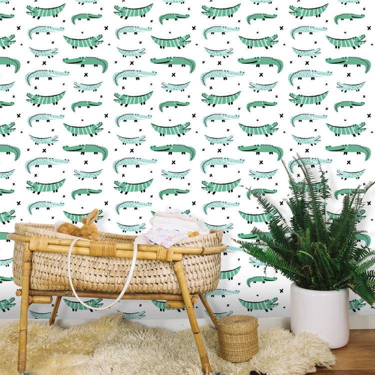 Daring Walls Behang Crocodile Bunch