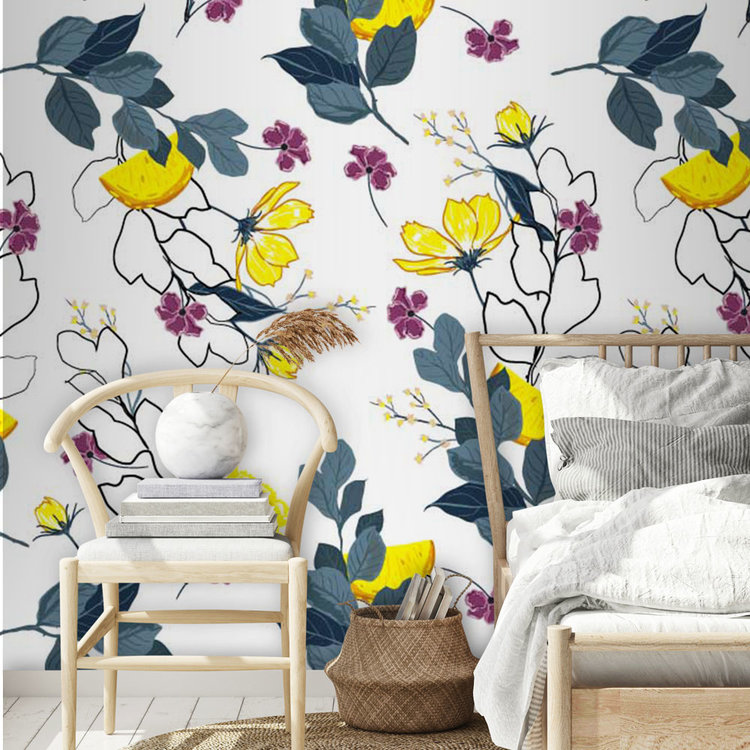 Daring Walls Behang Flowers and limes