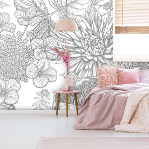 Daring Walls Behang Engraved Floral background -1