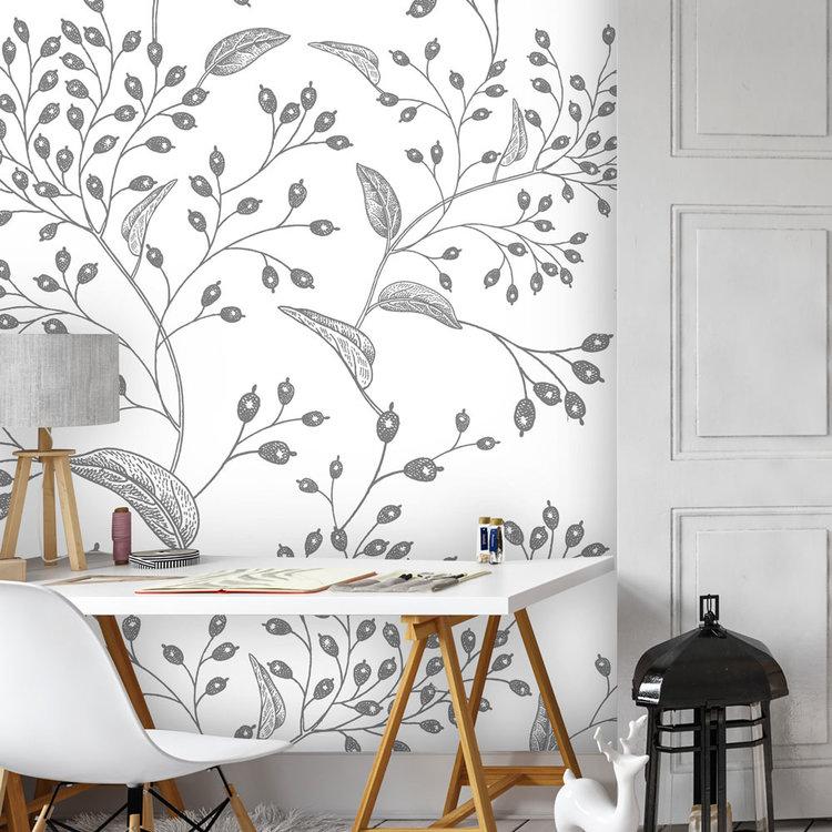Daring Walls Behang Engraved Floral background -3