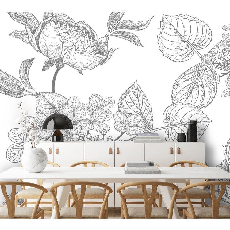 Daring Walls Behang Engraved Floral background -4