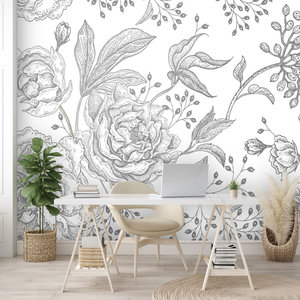 Daring Walls Behang Engraved Floral background -5