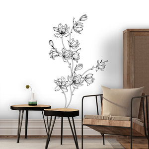 Daring Walls Muurstickers Flower drawing Magnolia-1