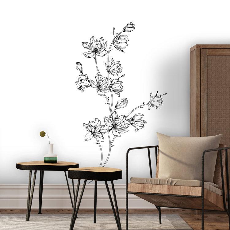 Daring Walls Muurstickers Flower drawing Magnolia-1