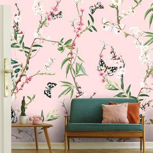 Daring Walls Behang Springtime pink