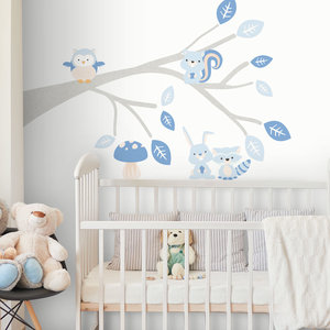 Daring Walls Muursticker Tak Woodland blue