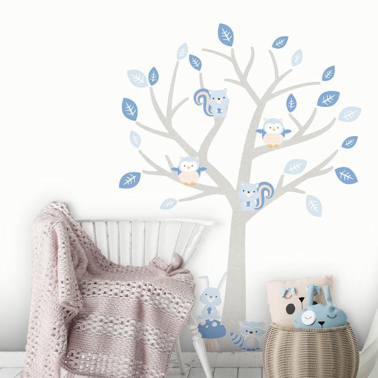 Daring Walls Muursticker Boom Baby Woodland blue