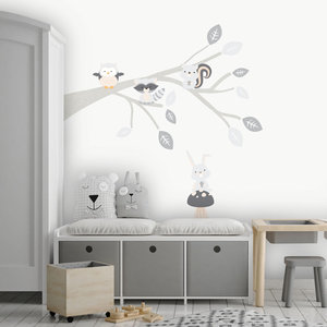 Daring Walls Muursticker Tak Woodland grey
