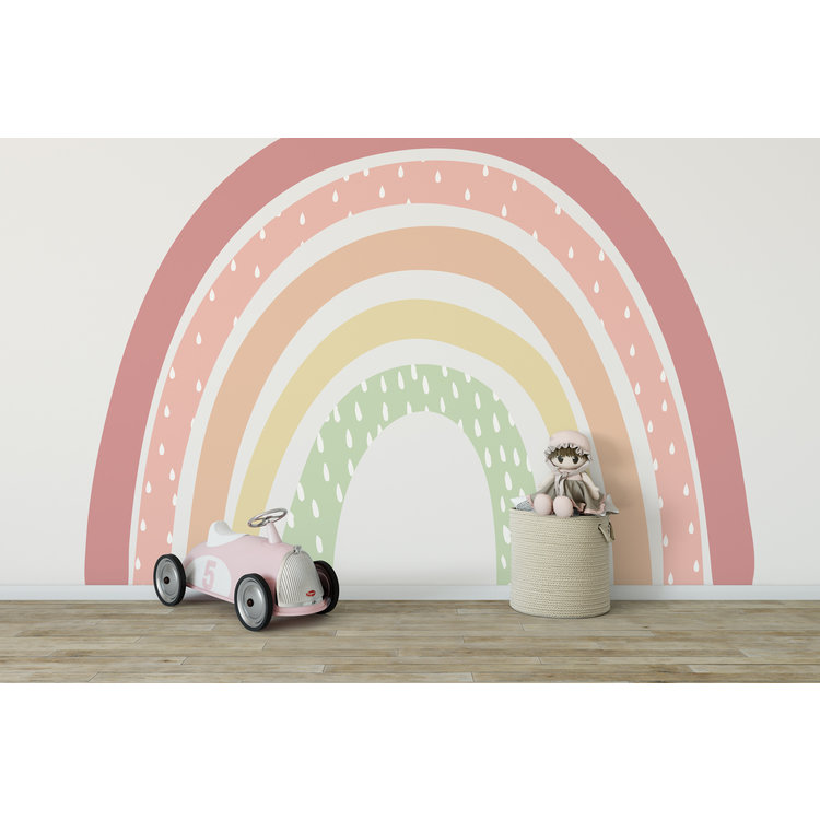 Daring Walls Kinderbehang Rainbow XL Pink