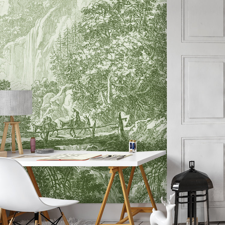 Daring Walls Behang Old Landscapes 1- green