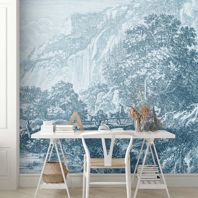 Daring Walls Behang Old Landscapes 1- blue