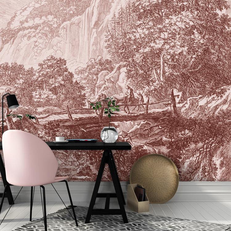 Daring Walls Behang Old Landscapes 1- pink