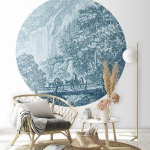 Daring Walls Behangcirkel Old Landscapes 1- blue