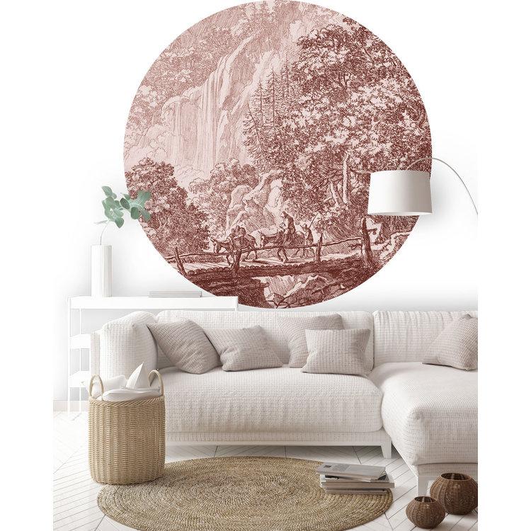 Daring Walls Behangcirkel Old Landscapes 1- pink