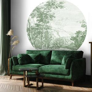 Daring Walls Behangcirkel Old Landscapes 2- green