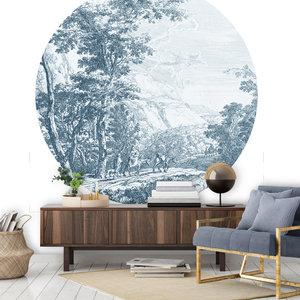 Daring Walls Behangcirkel Old Landscapes 2- blue